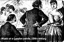 Music at a London soirée, 19th century