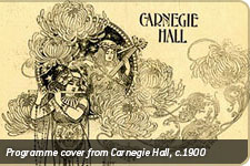 Programme cover from Carnegie Hall, c.1900
