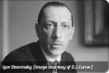 Igor Stravinsky (image courtesy of D.J.Culver)