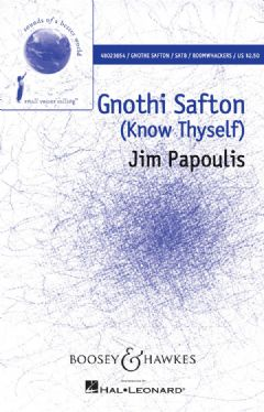 Gnothi Safton (SATB, Boomwhackers & Piano)