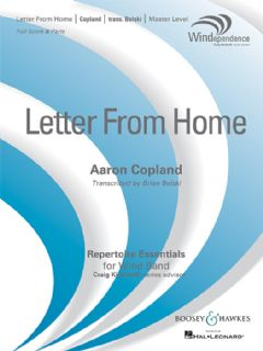 Letter from Home (Wind band - score & parts)