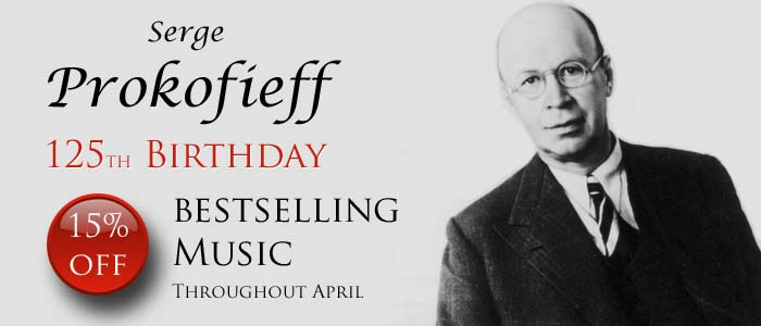 Save 15% on Bestselling Music by Prokofieff