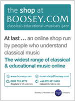 The Shop at Boosey.com Affiliate Programme