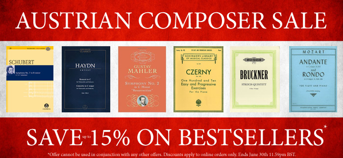 Save up to 15% on Austrian Composer Bestsellers