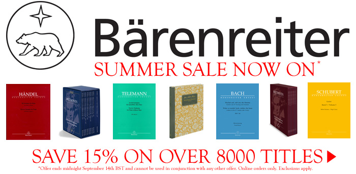 Save 15% on all Barenreiter titles