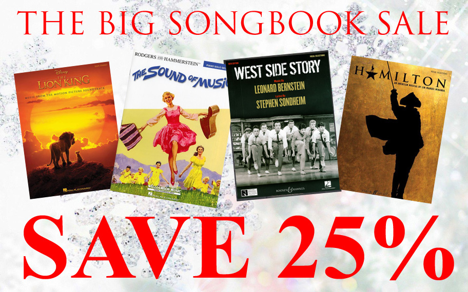 Save 25% on Songbooks