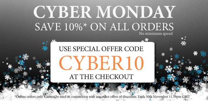 Cyber Monday Special Save 10% on All Orders