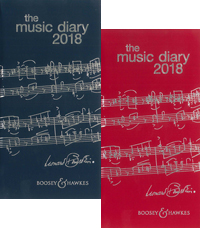 The Boosey & Hawkes Music Diary 2018