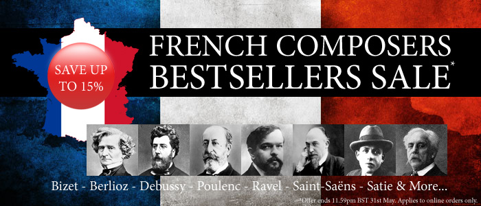 Save 15% on Bestselling French Composers