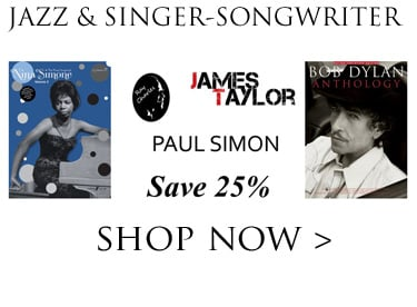 Save 25% on Jazz & Singer-Songwriters