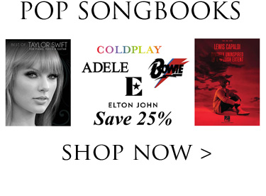 Save 25% on Pop Songbooks