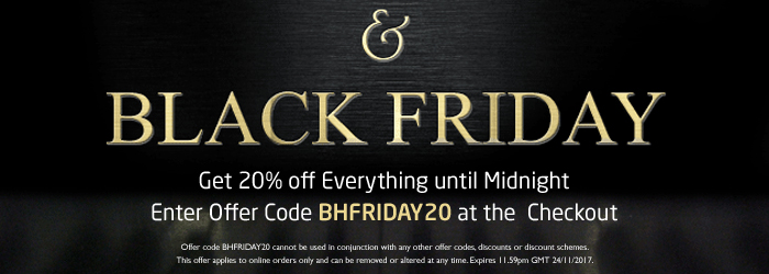Save 20% off Everything until Midnight