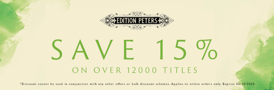 The Edition Peters Sale is Now On - Save 15%