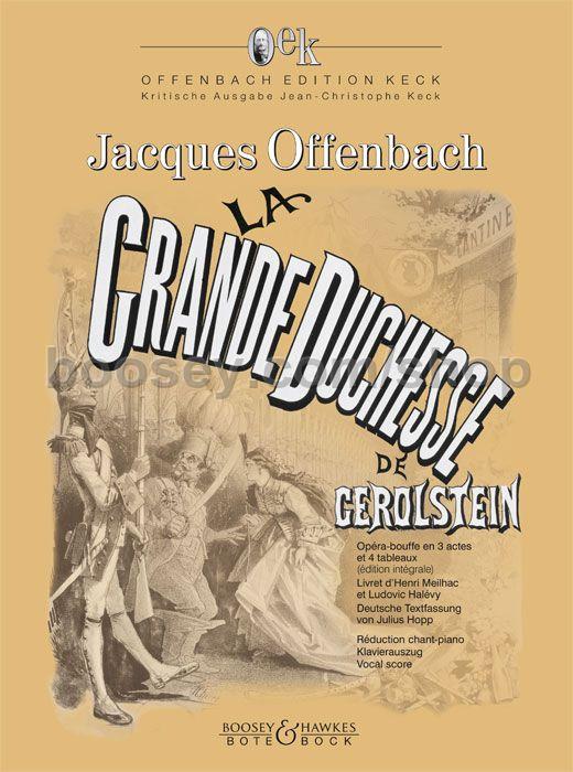 Jacques offenbach la grande duchesse de g rolstein oek for Hs offenbach