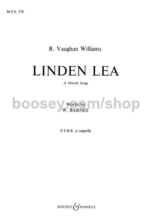 Ralph Vaughan Williams Linden Lea Ttbb