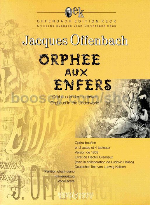 Jacques offenbach orph e aux enfers 1858 oek for Hs offenbach