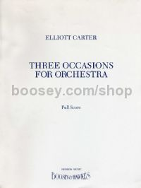 3 Occasions For Orchestra