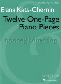 Twelve One-Page Piano Pieces