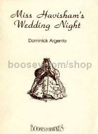 Miss Havisham's Wedding Night vocal score