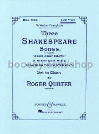 3 Shakespeare Songs, op. 6 (Low Voice)
