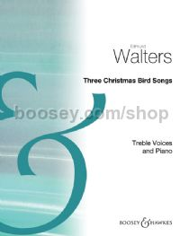Three Christmas Bird Songs - choral unison & piano