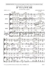 If ye love me (SATB a cappella)
