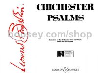 Chichester Psalms SATB, organ, harp & percussion