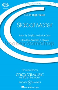Stabat Mater (SSA and piano with optional cello)