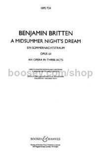 A Midsummer Night's Dream, op. 64 - study score