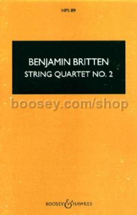String Quartet No. 2 in C, op. 36 - study score