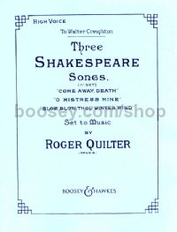 3 Shakespeare Songs, op. 6 (High Voice)