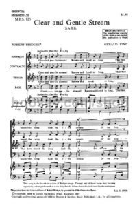 Clear and Gentle Stream SATB