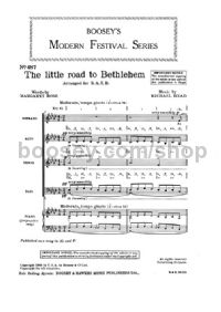 The Little Road To Bethlehem SATB