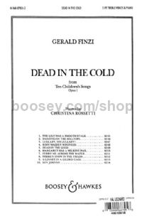 Dead In The Cold SS & piano