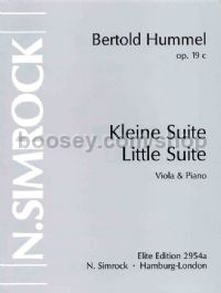 Little Suite for Viola, Op. 19c