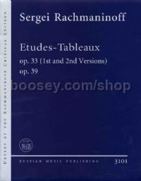 Etudes-Tableaux Op33 (1st and 2nd Vers) &  39