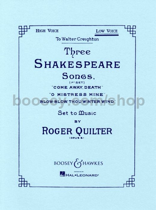 Shakespeare Voice SongsOp6low Roger Quilter 3 80vNmwOn