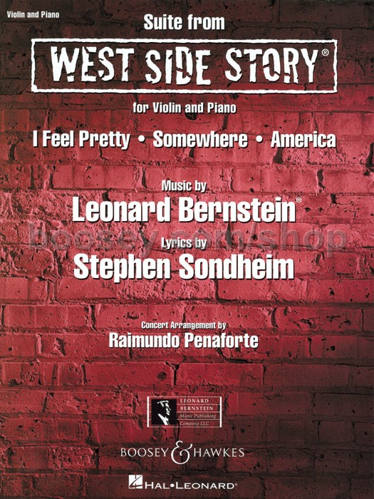 west side story suite for violin and piano
