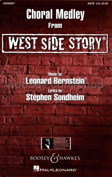 america mixed satb voices from west side story