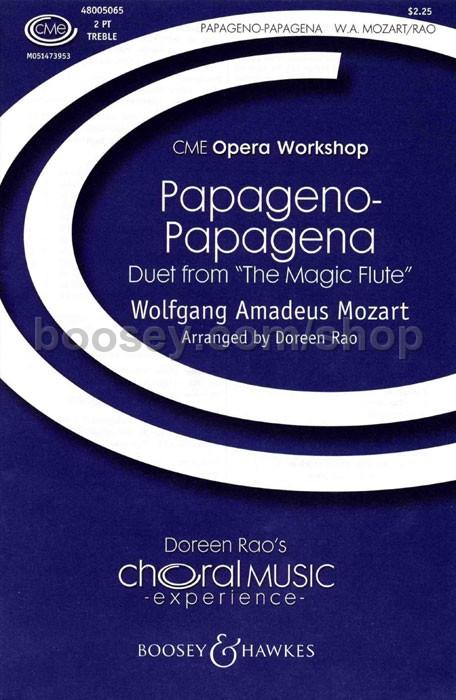 Wolfgang Amadeus Mozart - Papageno-Papagena Duet SA & piano