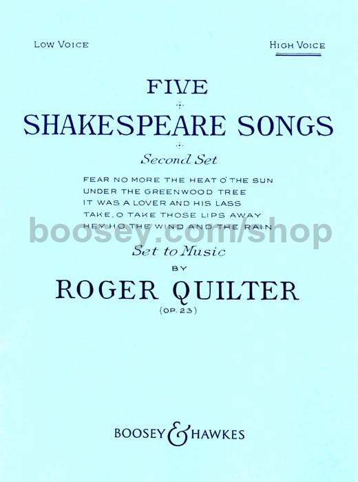 Shakespeare Song Album 23 Songs Sheet Music & Song Books
