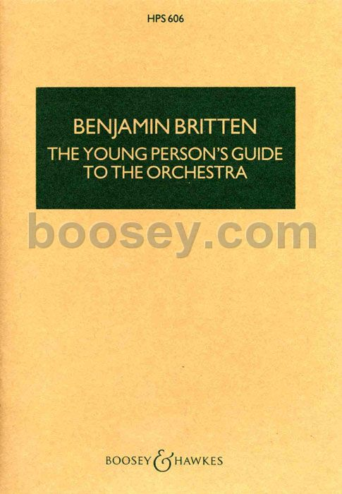 Young Person's Guide to the Orchestra by Benjamin Britten ...