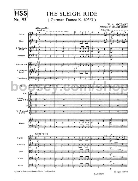 Wolfgang Amadeus Mozart Sleigh Ride: Sleigh Ride Sheet Music For Oboe At Alzheimers-prions.com