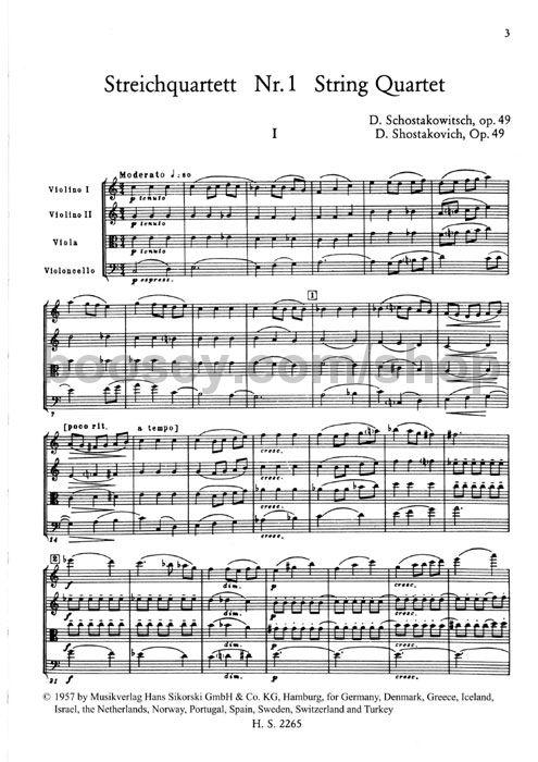Dmitri Shostakovich - String Quartets 1-4