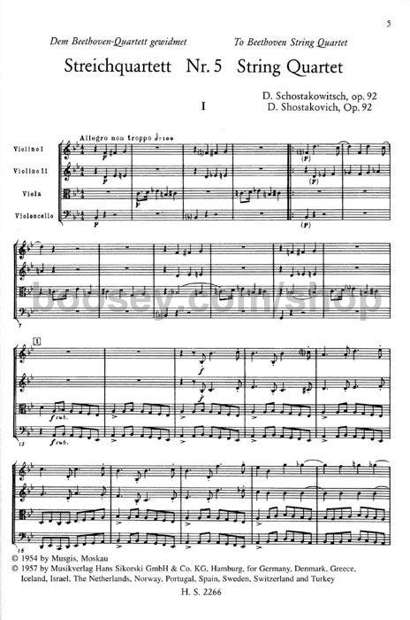 Dmitri Shostakovich - String Quartets 5-8