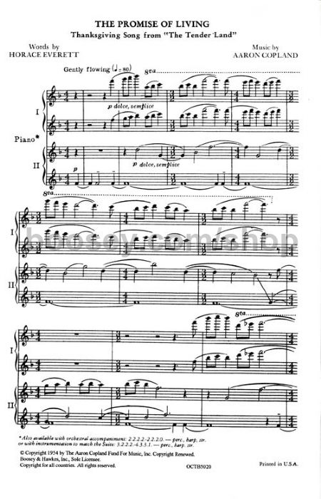 Aaron Copland - Promise of Living