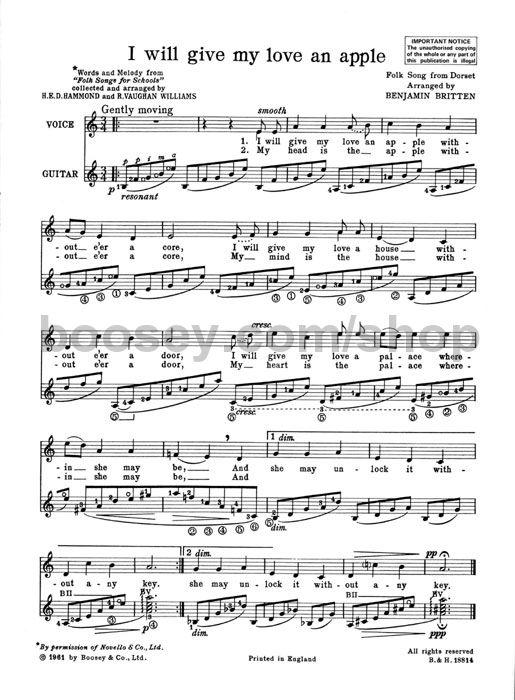Benjamin Britten - Folksong Arrangements vol  6 - high voice
