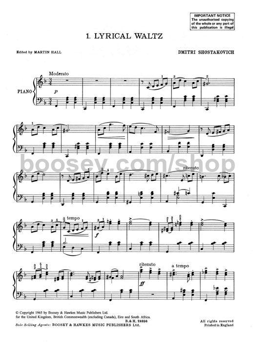 Lyric Waltz Shostakovich Pdf