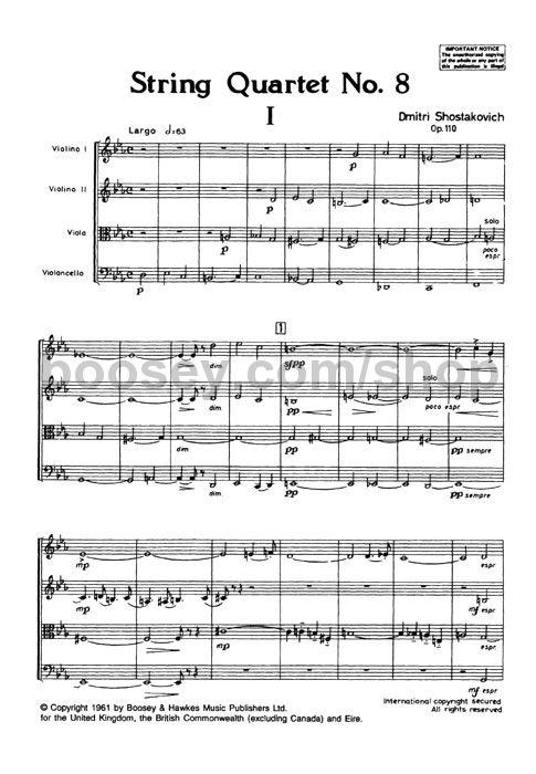 Dmitri Shostakovich - String Quartet 8 Op110