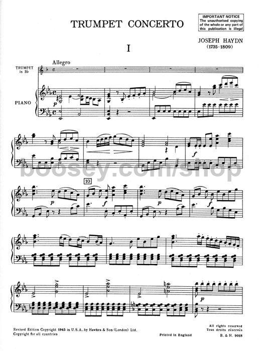 Franz Joseph Haydn - Concerto in E flat for Trumpet